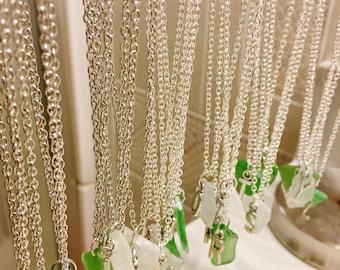 Alphabet Beach Glass Necklace