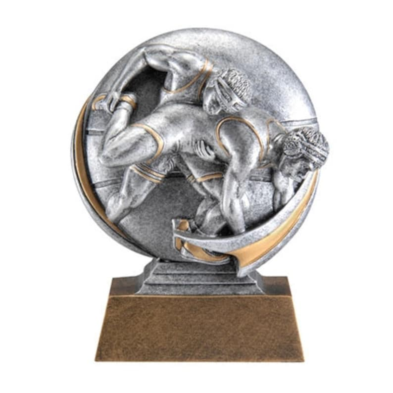 Wrestling MX500 Series Trophy with 3 lines of custom text
