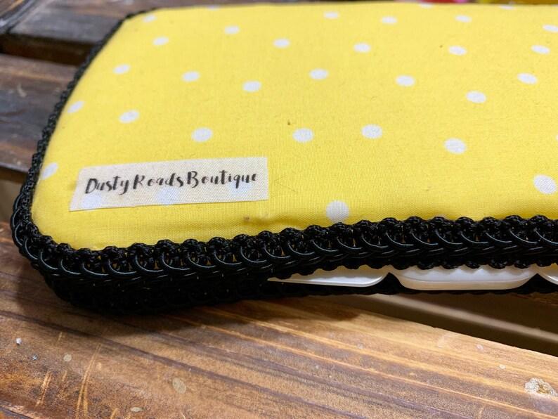 Custom Travel Baby Wipe Case Yellow Polka Dot Pattern