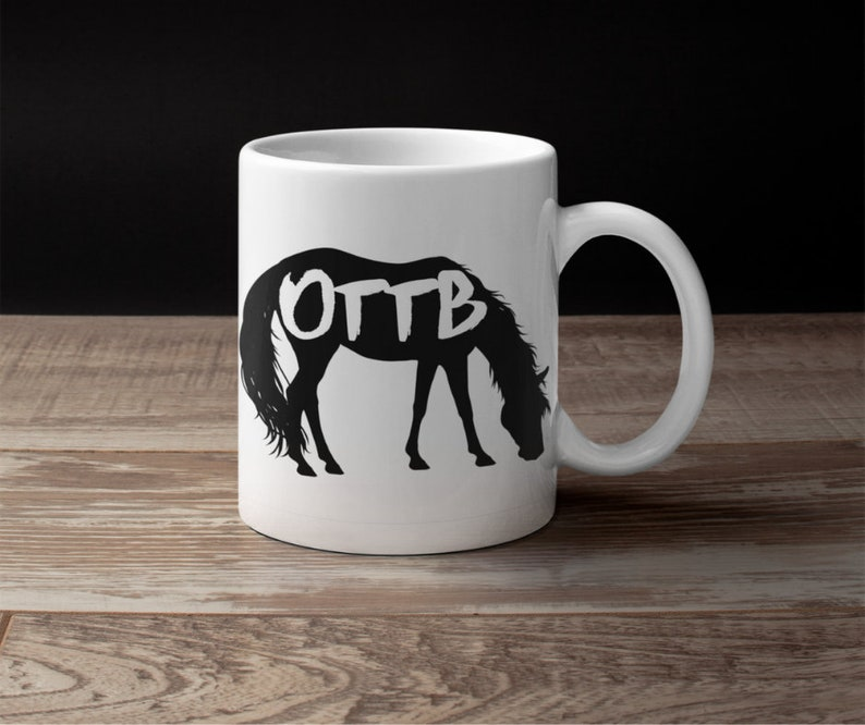 OTTB off track Thoroughbred horse lover coffee gift mug for women wife teens her