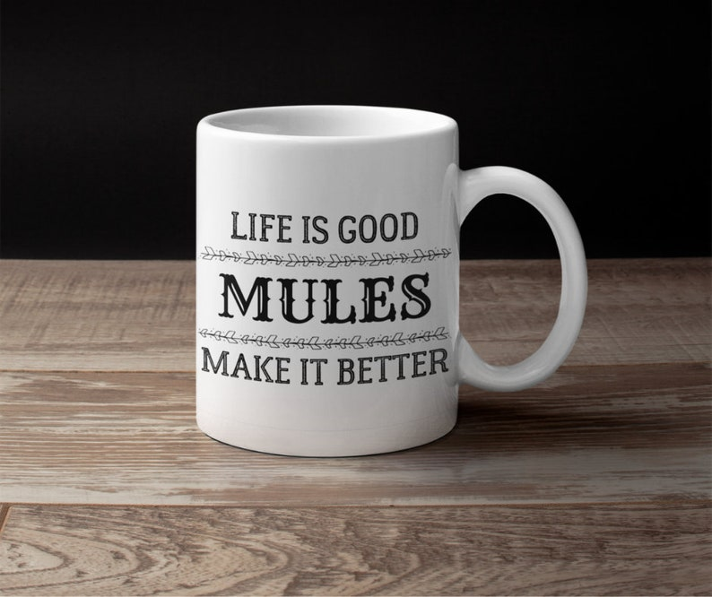 saddle mule lover rider owner coffee gift mug