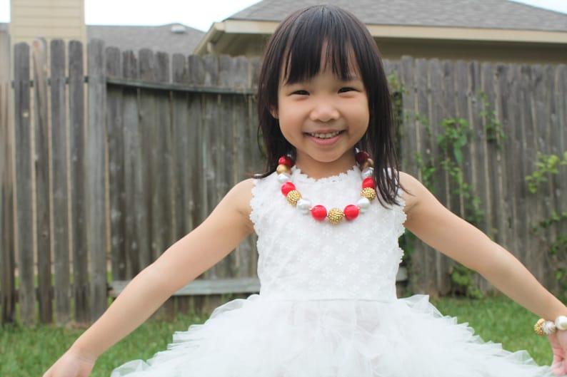 4T White Baby Girl Birthday Dress,4 Year Old Toddler Girl Party Dress,Wedding Flower Girl Outfit,Baby Girl Baptism Dress