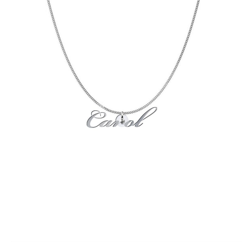 Personalized Name Necklace for Carol Friendship Custom Initial Jewelry Sterling Silver Family Gift For Women Mom
