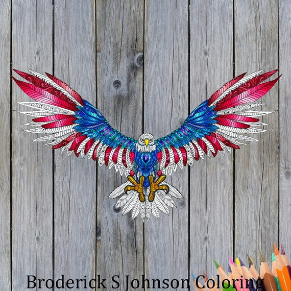 American Eagle Printable Coloring Page For Adult