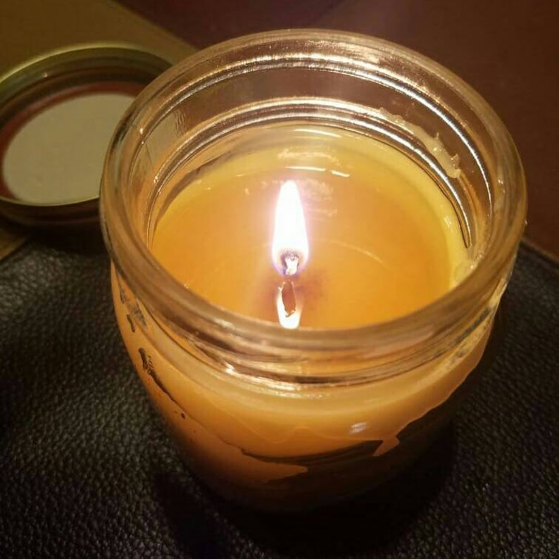 Organic Soy-Free Candle 4oz Essential Oil No Parabens No Chemicals Beeswax  Hemp & Cotton Wicks Essential Oils Paleo BPA Free Toxic-Free