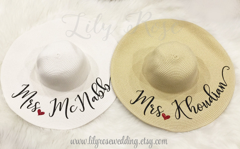 56c14cc00e219 Personalized Beach Hat Floppy Beach Hat Monogram Hat Custom