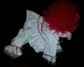 Custom Made Dog Clothes//Pennywise Inspired Pet Costume//Custom Dog Costume //Pet Clown Costume//Dog Clown Costume//Pet Halloween Costume & Pennywise costume | Etsy