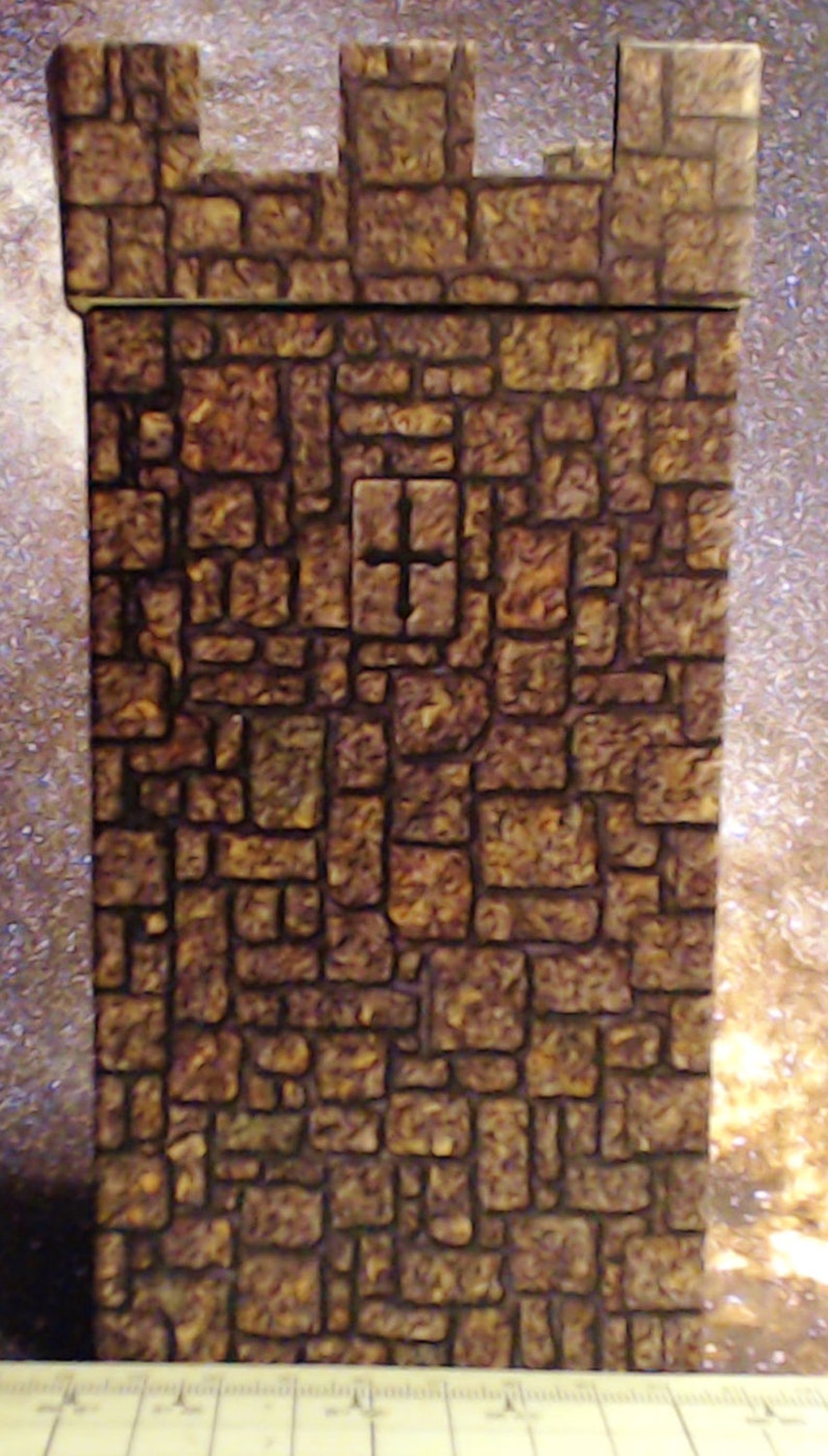 Set of 4 Terrain Buildings for Dungeons and Dragons and Warhammer and Tabletop Games Towers