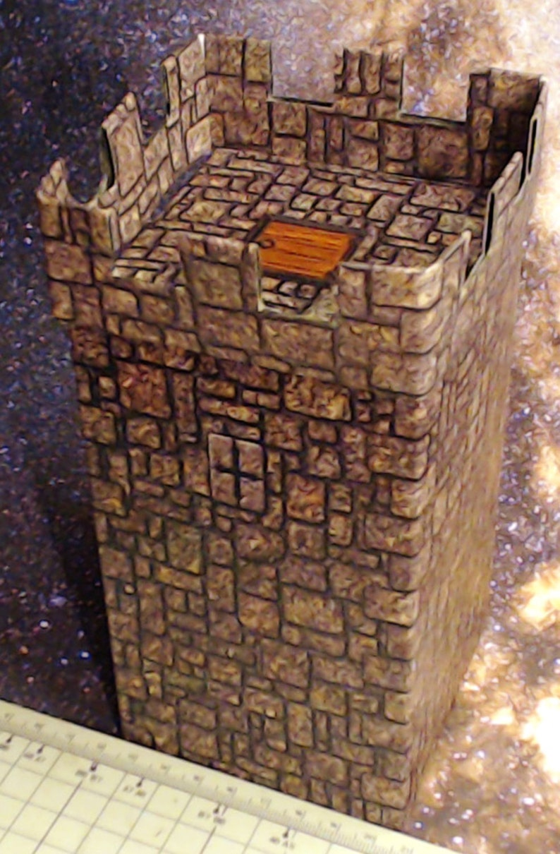 Towers, Set of 4 Terrain Buildings for Dungeons and Dragons and Warhammer  and Tabletop Games