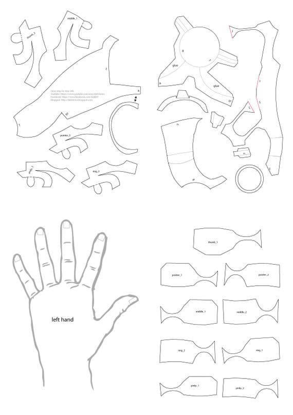 iron man hands pdf template etsy