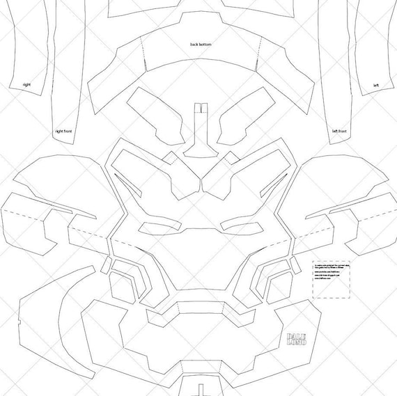 Iron Man Mark 42 A4 Letter Size Pdf Template Ready To Print