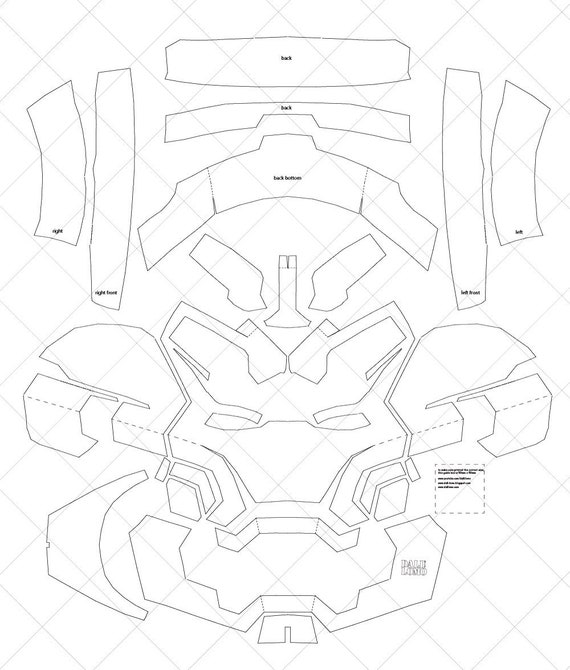 Iron man mark 42 a4 letter size pdf template ready to etsy image 0 maxwellsz