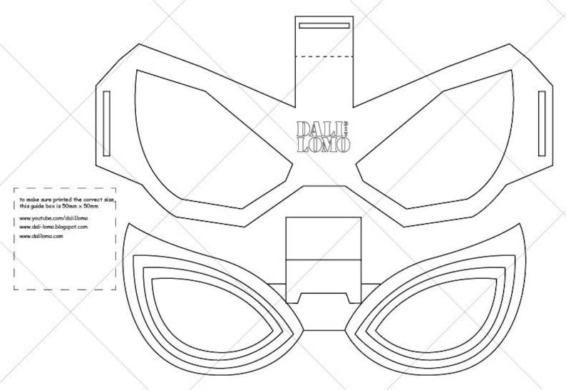 Papercraft Scorpion Mask Papercraft