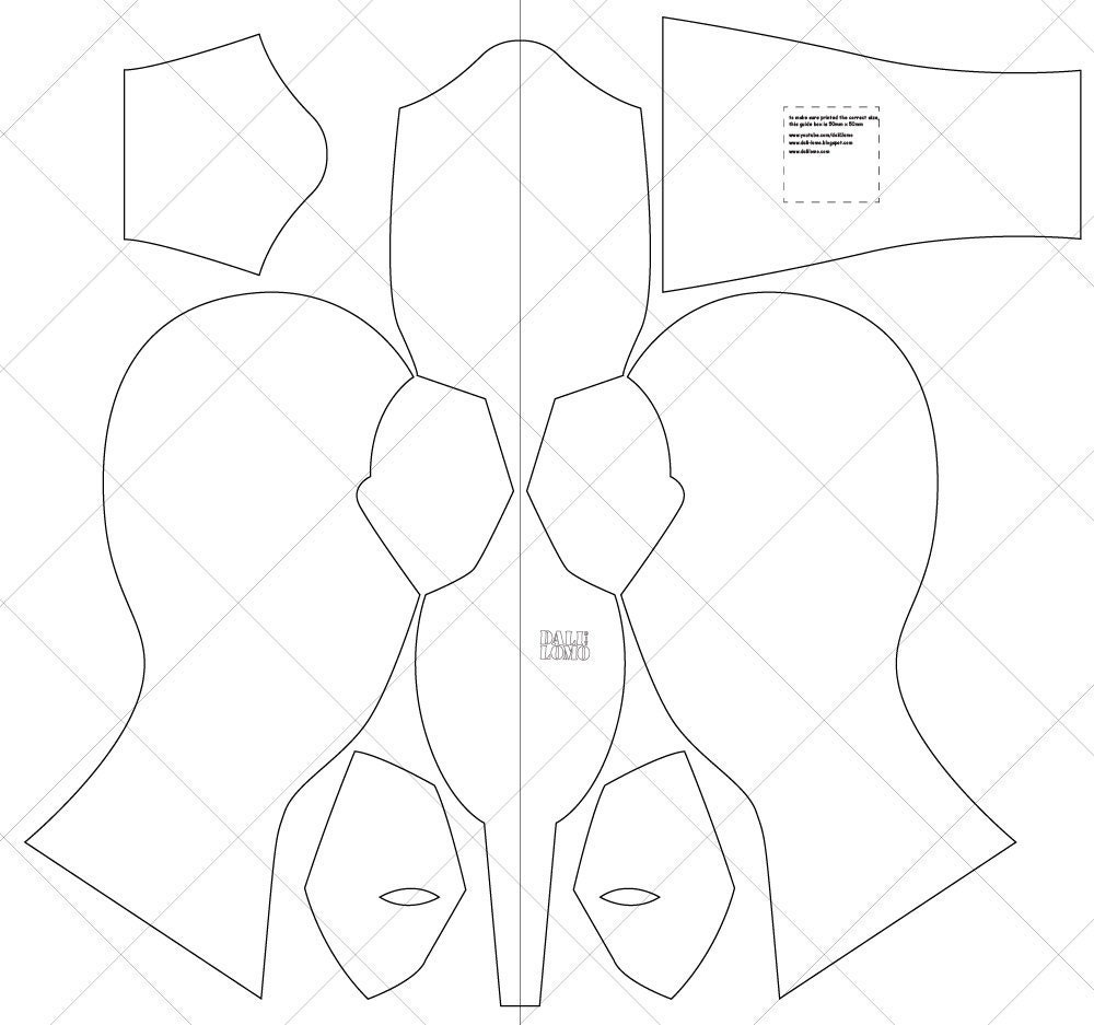 Dead pool Movie Fabric Mask A4 & Letter Size PDF Template | Etsy
