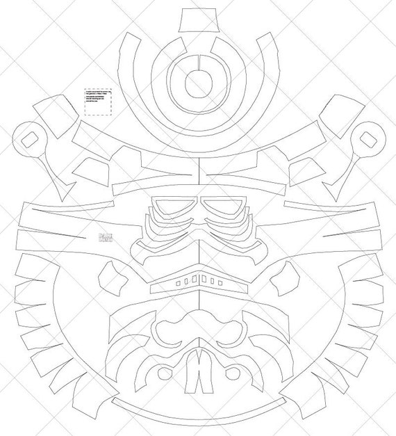 classic storm trooper helmet a4  u0026 letter size pdf template