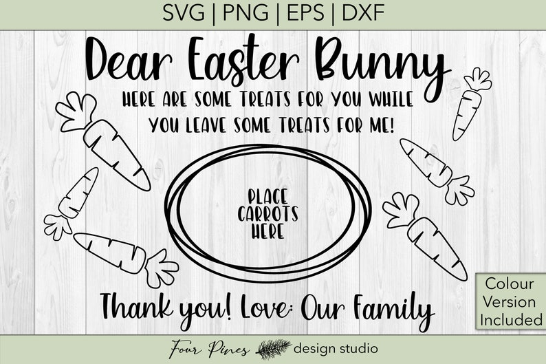 Download Dear Easter Bunny Love Our Family Two Files Included v.1 ...