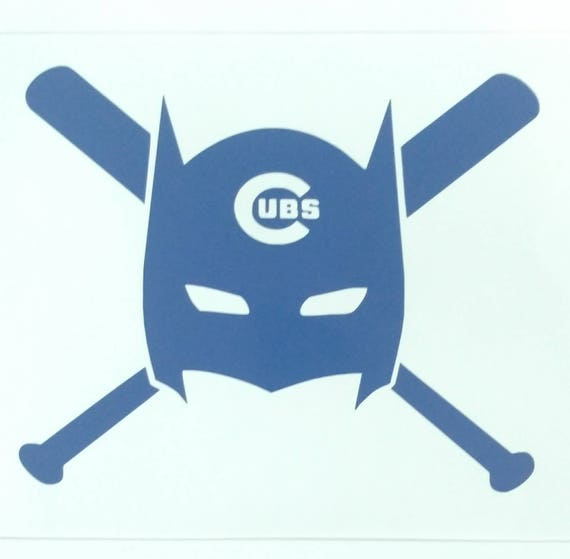 Batman chicago cubs decal die cut vinyl sticker window bumper