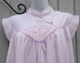 80's Vintage Babydoll Nightie Japanese Style by Lorraine Size Medium