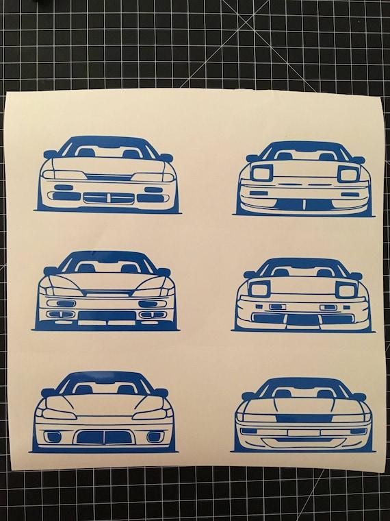 Nissan 240sx 180sx S13 S14 S15 Silvia Kouki Zenki Type X Front Clip Stickers Drift Cars Vinyl Decal
