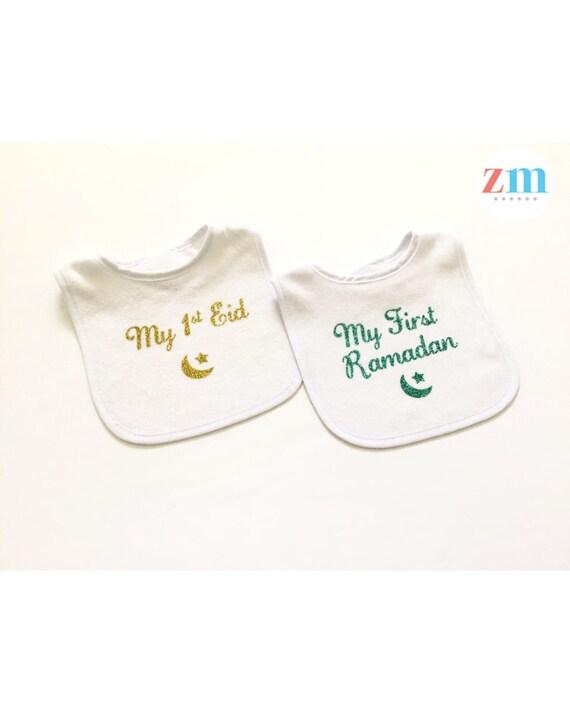 1ST Eid Personnalisé Tout Nom Pour Bébé T Shirt Mignon Enfants Garçon Fille Ramadan