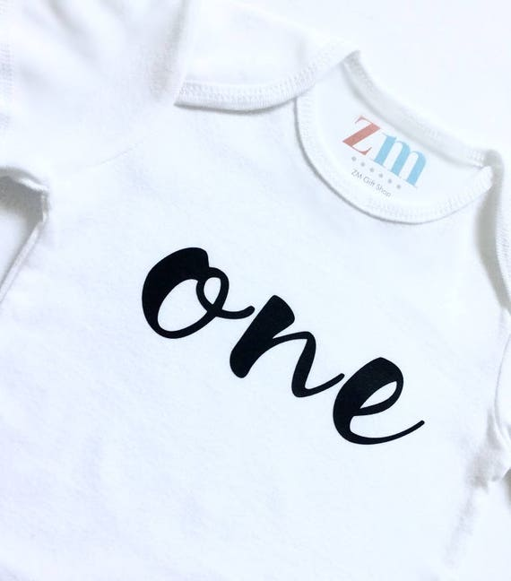 One Two Three Four Five Birthday Age Bodysuit T Shirt