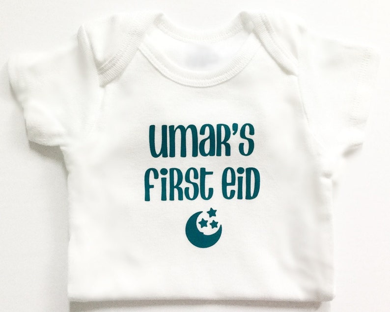339dce11a My first Eid bodysuit personalized Islamic gift baby | Etsy