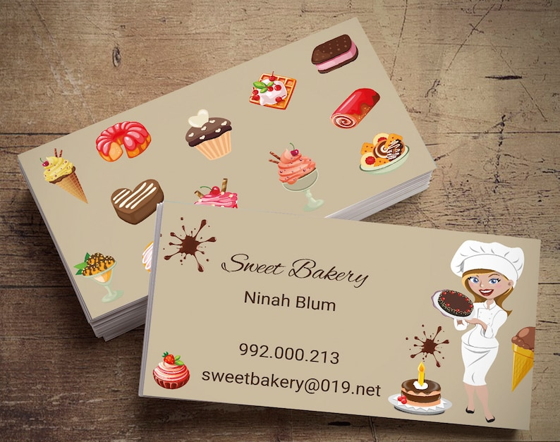Personal Card  Personalized Business Cards  Pastry Card  image 0