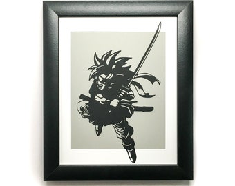 Chrono Trigger - 8 x 10 Paper Cut Art