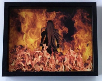 "Sephiroth - Final Fantasy VII - 14x11"" Shadow Box - Print Diorama"