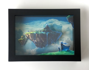 Chrono Trigger - Paper Cut Art Shadow Box - Kingdom of Zeal