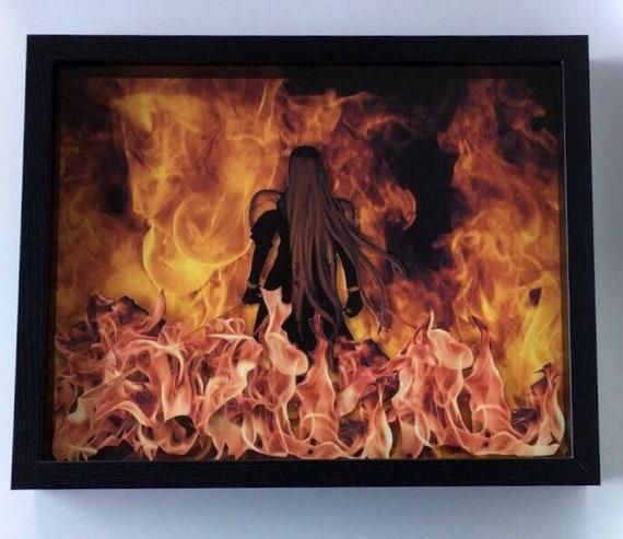 Sephiroth Final Fantasy Vii 14x11 Shadow Box Print Diorama