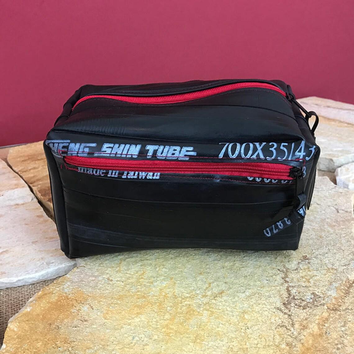 Camera Bag, HipBag, Belt bag, Hip pocket, Belly bag, made of Bicycle hose, Lined