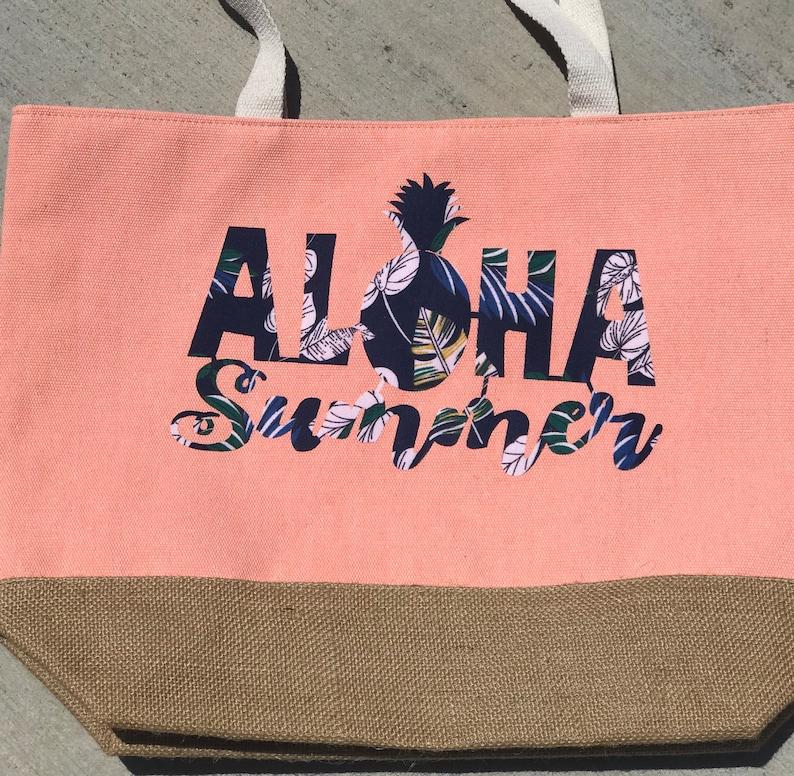 Aloha Summer tote bag