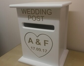 Sale 5 Pounds Off Personalised Handmade Wooden Wedding Post Etsy
