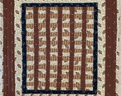 """Quilted Railroad Ties Table Topper 16""""x18"""""""