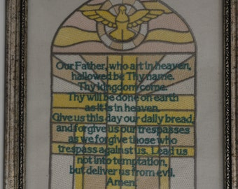 Embroidery--The Lord's Prayer