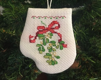 Mistletoe Mitten Ornament