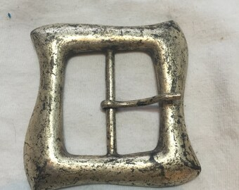Rounded Square Pewter Belt Buckle  (#115)