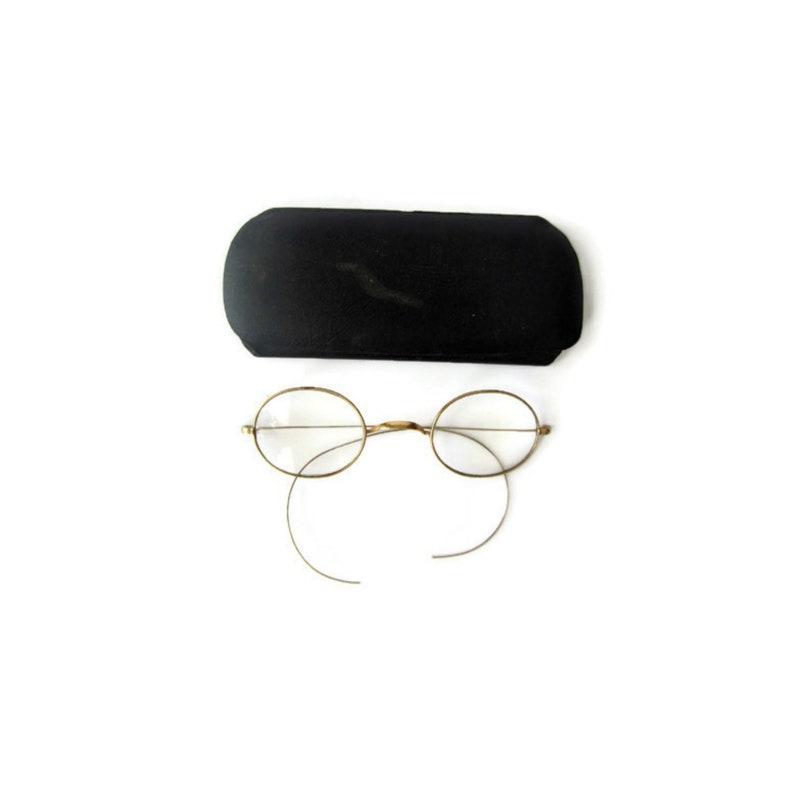 ac1dc89e489d Vintage Eyewear Antique Gold Glasses Wire Frames Spectacles