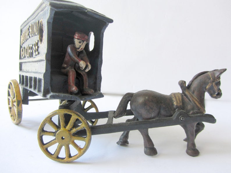 Vintage Cast Iron Horse and Wagon Horse and Buggy Brooke Bond Tea /& Coffee Vintage Toys Cast iron Model Cast Iron toy Vintage Advertising