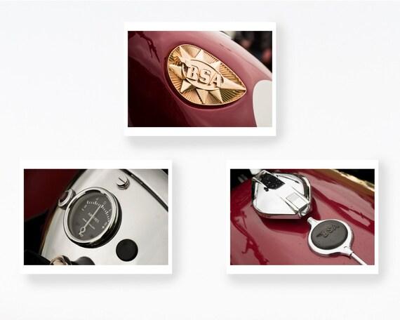 Motorrad Geschenke Set A 3 Drucke Buro Dekor Maskulinen Etsy