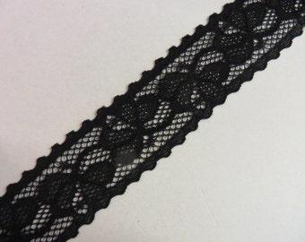 3 m black elastic tip 3.5 cm wide
