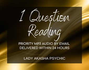 Top TV Psychic Same Day Psychic Reading, Tarot Reading by MP3, 1 Question Psychic Reading, Accurate Psychic Reading, Fast Reading by email