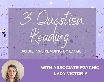 Top Psychic 3 Question Psychic Reading, Tarot Reading by MP3, 3 Question Tarot Reading, 24 or 48 Hr Reading by email depending on option