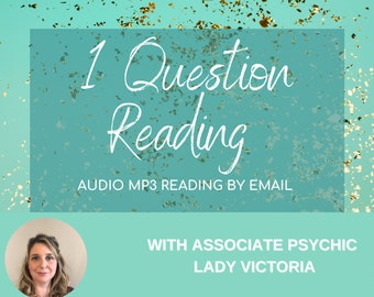 Top Psychic 1 Question Psychic Reading, Tarot Reading by MP3, 1 Question Tarot Reading, 24 or 48 Hr Reading by email depending on option