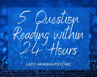 Top TV Psychic Same Day 5 Question Psychic Reading, Tarot Reading by MP3, 5 Question Tarot Reading, Accurate Psychic Reading in 24 Hours