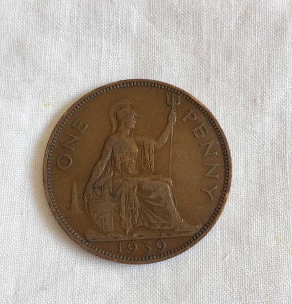 1945 one penny  Bronze  George VI
