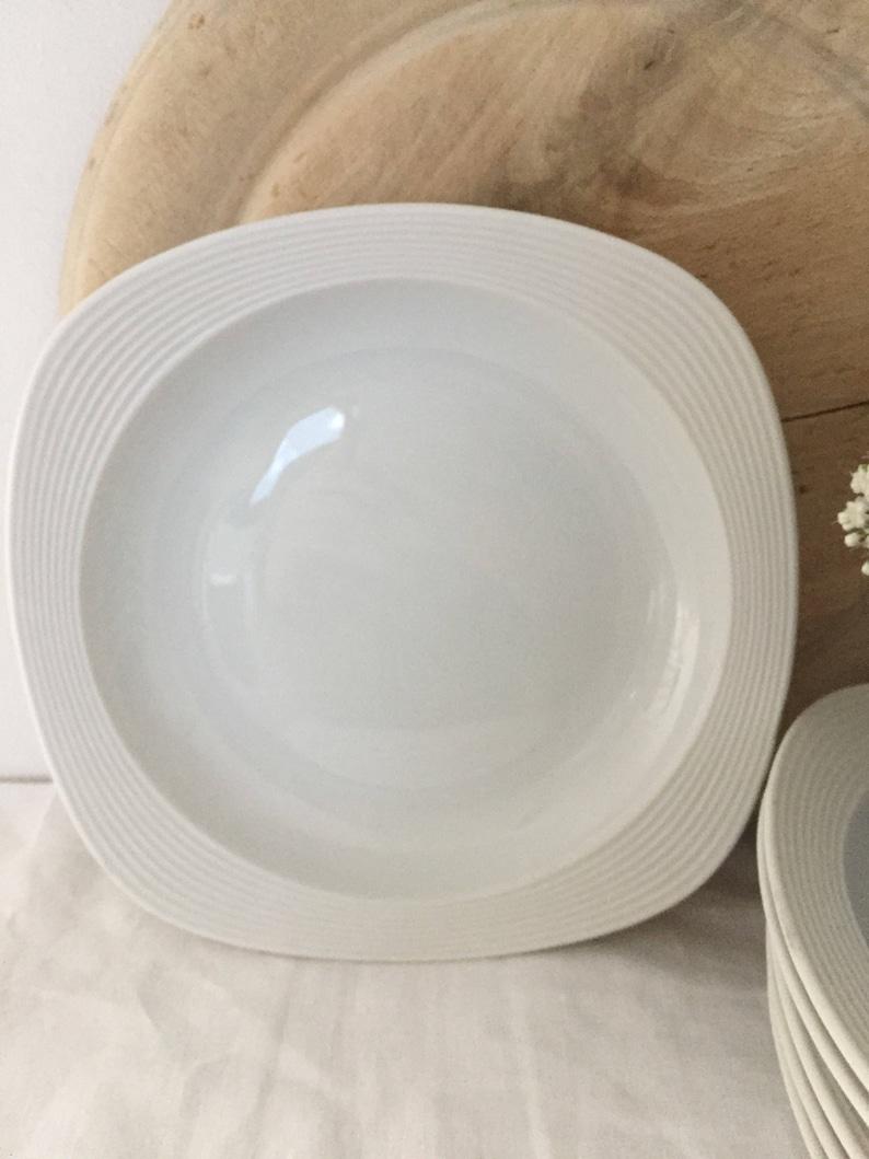 Vintage arzberg white shallow bowls.