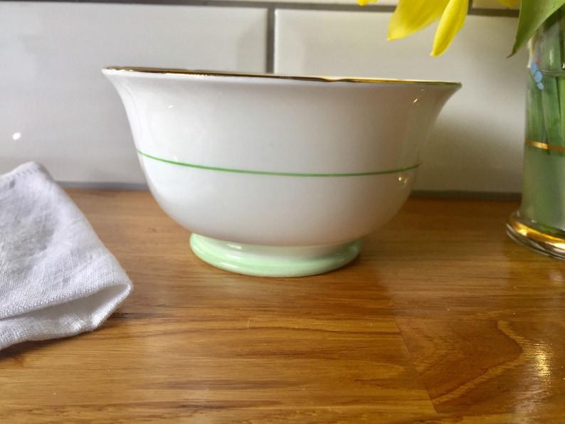 1930/'s Art Deco Grosvenor Jackson /& Gosling aqua green sugar bowl