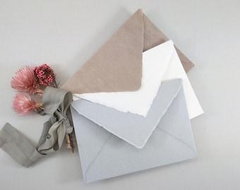 1 pcs envelope B6 handmade paper 3 colours: ivory / light grey / brown 180g handmade paper
